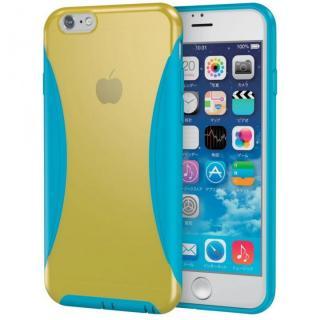 【iPhone6s ケース】ハイブリッドバンパー イエロー/ブルー iPhone 6s