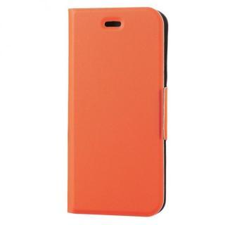 薄型ソフトレザー手帳型ケース オレンジ iPhone 6s