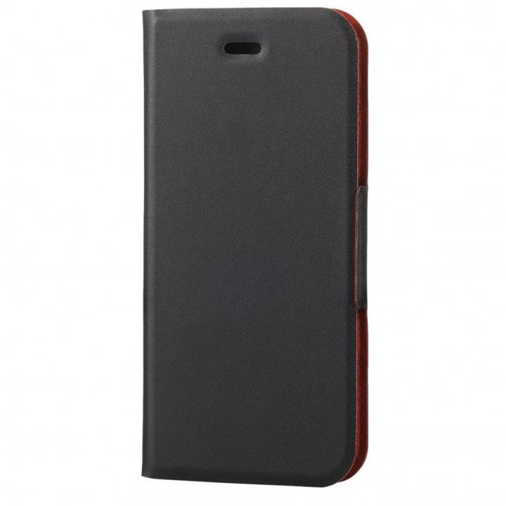 薄型ソフトレザー手帳型ケース ブラック iPhone 6s
