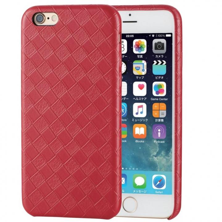 iPhone6s ケース ソフトレザーケース 編込調レッド iPhone 6s_0