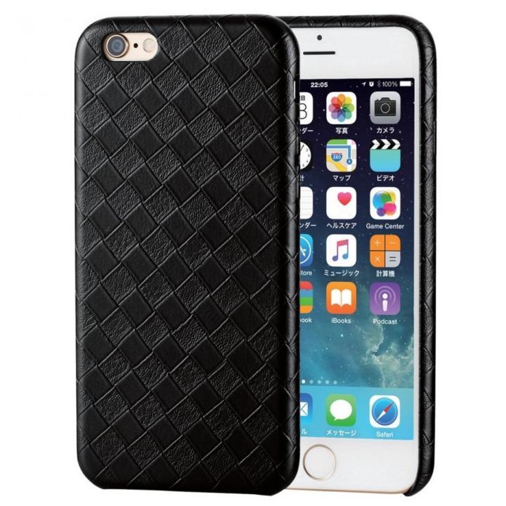 iPhone6s ケース ソフトレザーケース 編込調ブラック iPhone 6s_0