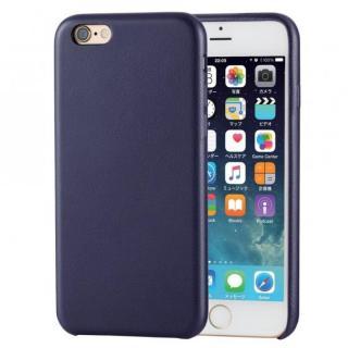 ソフトレザーケース ブルー iPhone 6s