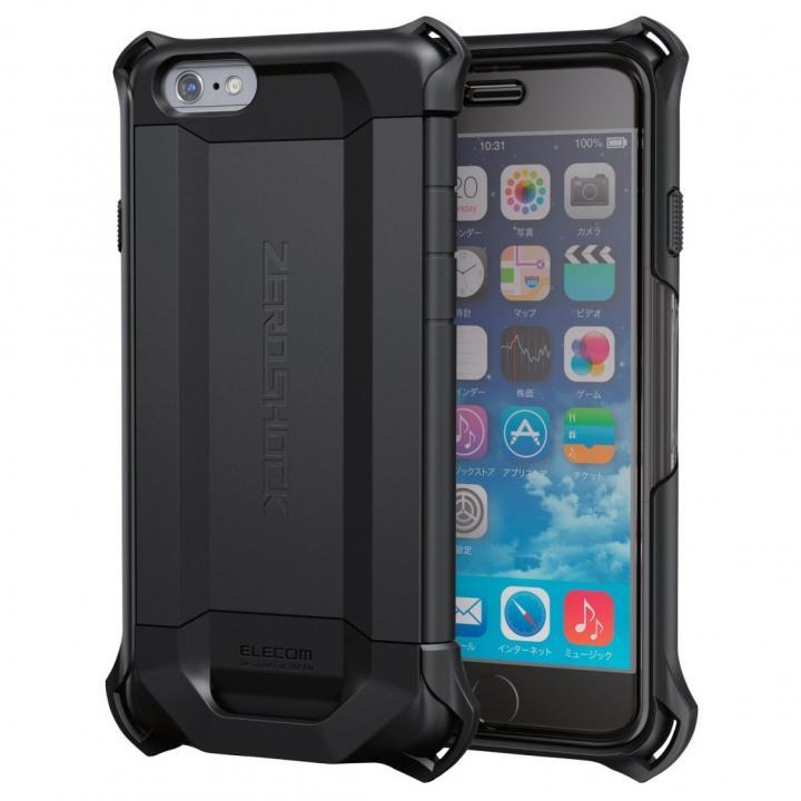 【iPhone6sケース】耐衝撃ケース ZEROSHOCKシールド ブラック iPhone 6s_0