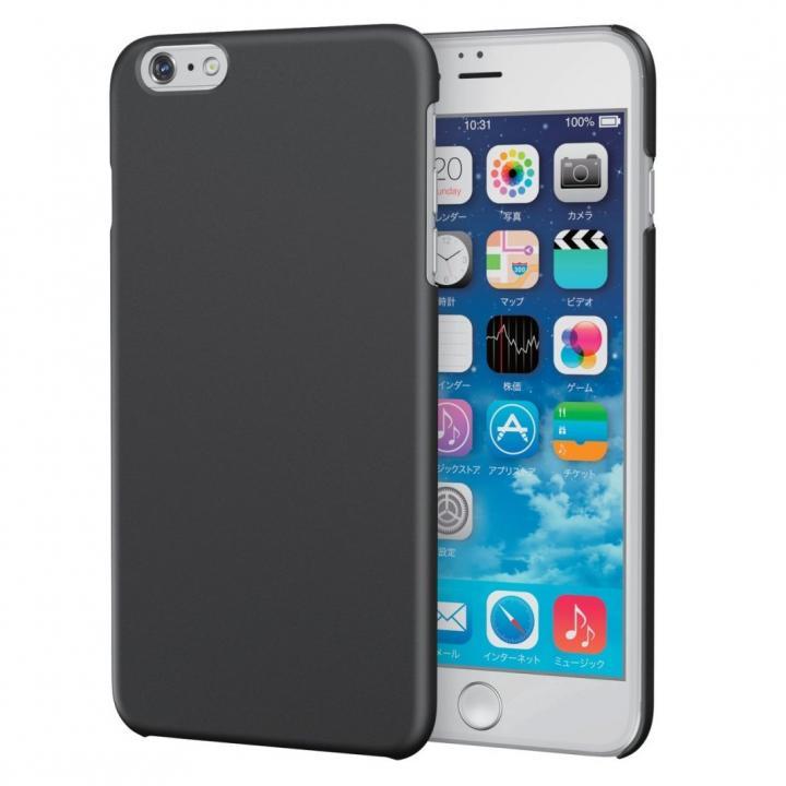 【iPhone6s Plusケース】ラバーコート ハードケース ブラック iPhone 6s Plus_0