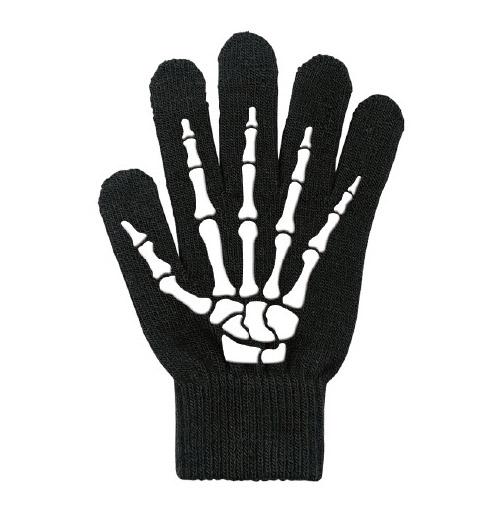 スマートフォン手袋/グリップ/ブラック/骨_0