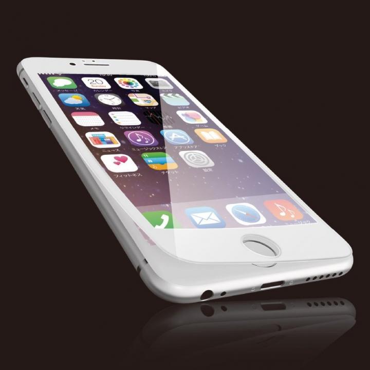 【iPhone6sフィルム】[0.40mm]液晶保護強化ガラス フルラウンド ホワイト iPhone 6s_0