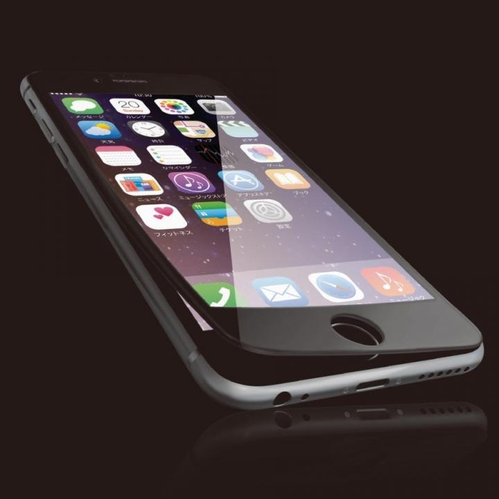 iPhone6s フィルム [0.40mm]液晶保護強化ガラス フルラウンド ブラック iPhone 6s_0