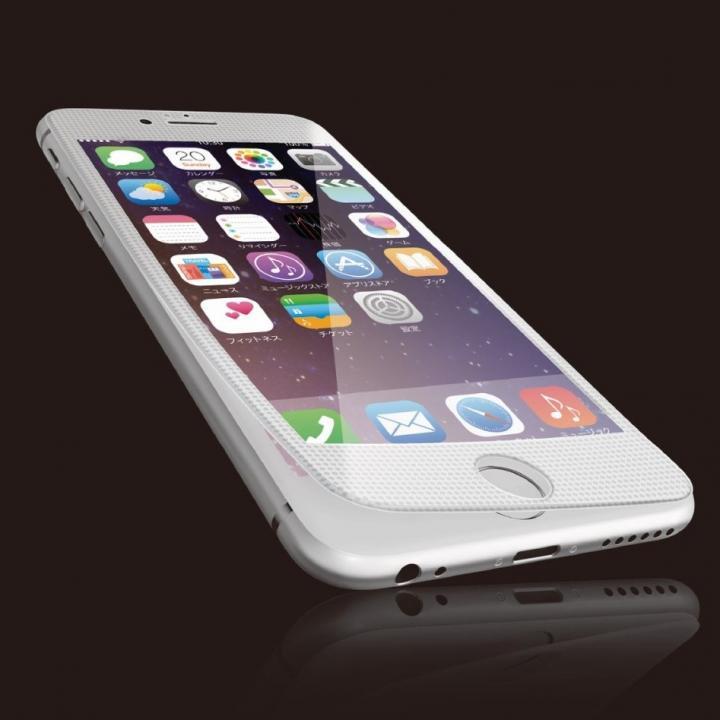 【iPhone6sフィルム】[0.40mm]液晶保護強化ガラス ホワイトフレーム iPhone 6s_0