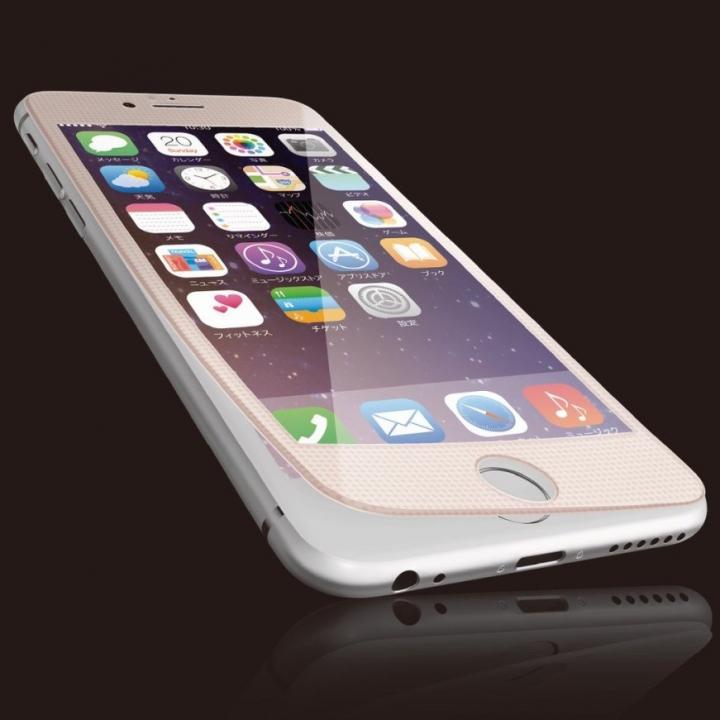 【iPhone6sフィルム】[0.40mm]液晶保護強化ガラス ピンクフレーム iPhone 6s_0
