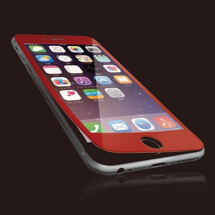 【iPhone6sフィルム】[0.40mm]液晶保護強化ガラス レッドフレーム iPhone 6s_0