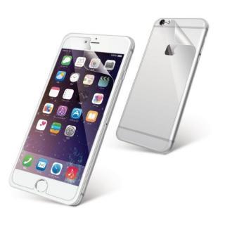 液晶保護フィルム 光沢 防指紋 背面付き iPhone 6s Plus