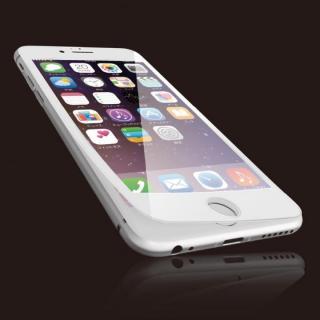 [0.40mm]液晶保護強化ガラス フルラウンド ホワイト iPhone 6s Plus