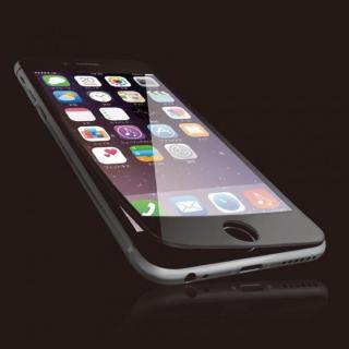 [0.40mm]液晶保護強化ガラス フルラウンド ブラック iPhone 6s Plus
