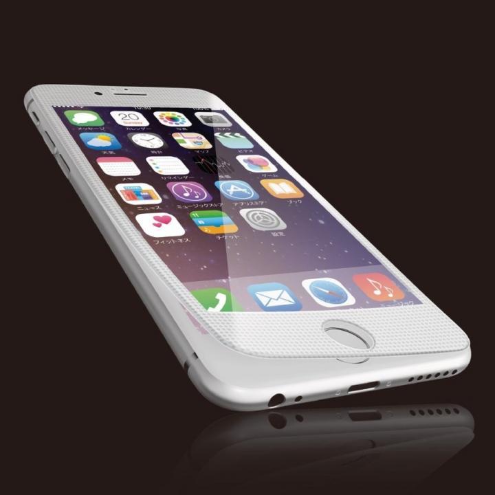 iPhone6s Plus フィルム [0.40mm]液晶保護強化ガラス ホワイトフレーム iPhone 6s Plus_0