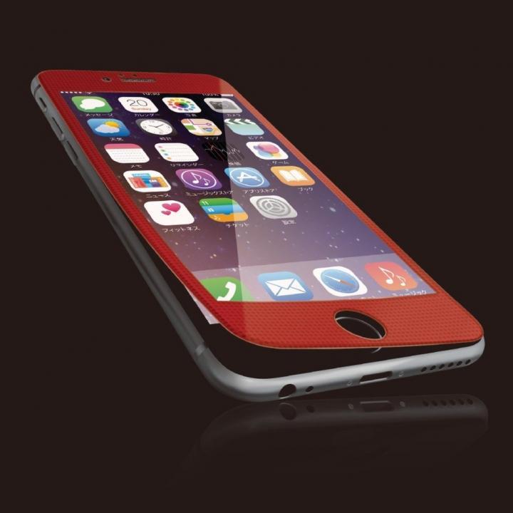iPhone6s Plus フィルム [0.40mm]液晶保護強化ガラス レッドフレーム iPhone 6s Plus_0
