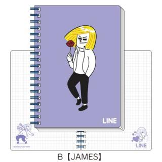 LINE B6ツインリングノートB(JAMES)