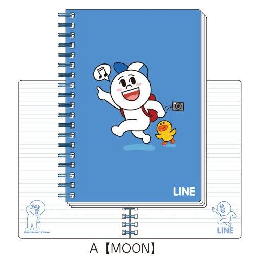 LINE B6ツインリングノートA(MOON)_0