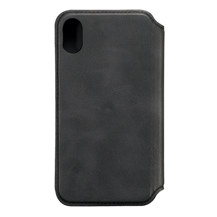 iPhone XR ケース iDress NEWT CAT FLIP 手帳型ケース ヴィンテージブラック iPhone XR_0