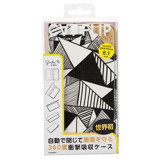 【iPhone XRケース】iDress CATFLIP 手帳型ケース Girlsi モノトライアングル iPhone XR