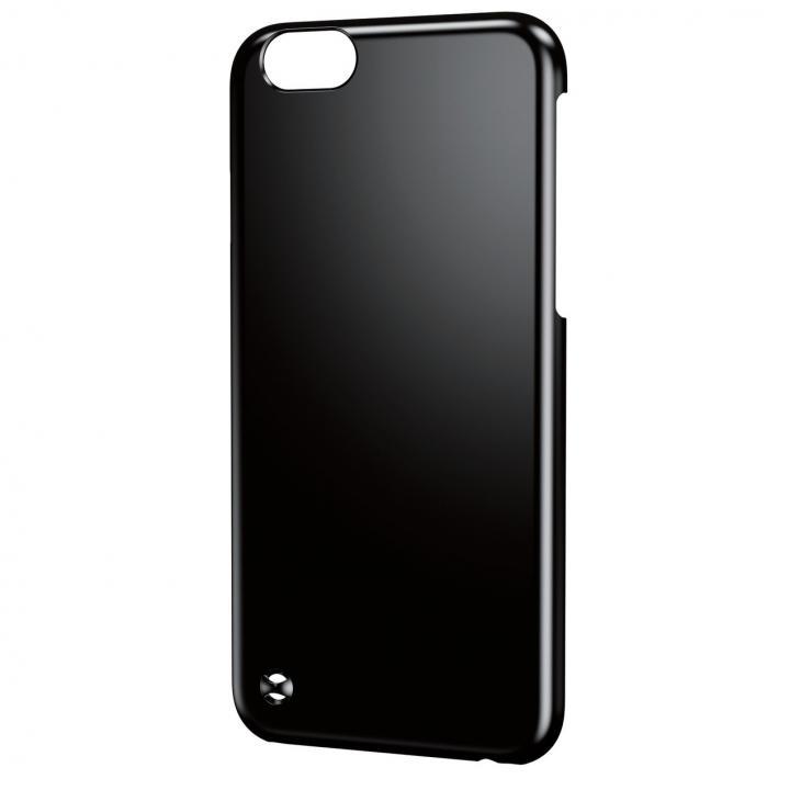 ストラップホール付き シェルカバー ブラック iPhone 6ケース