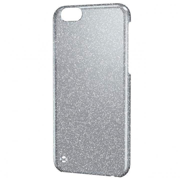 【iPhone6ケース】シェルカバー ラメ クリア×ブラック(ラメ色はシルバー) iPhone 6ケース_0