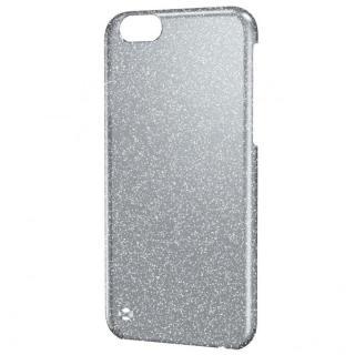 シェルカバー ラメ クリア×ブラック(ラメ色はシルバー) iPhone 6ケース