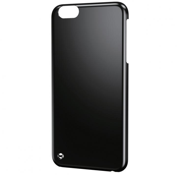 ストラップホール付きシェルカバー ブラック iPhone 6 Plusケース