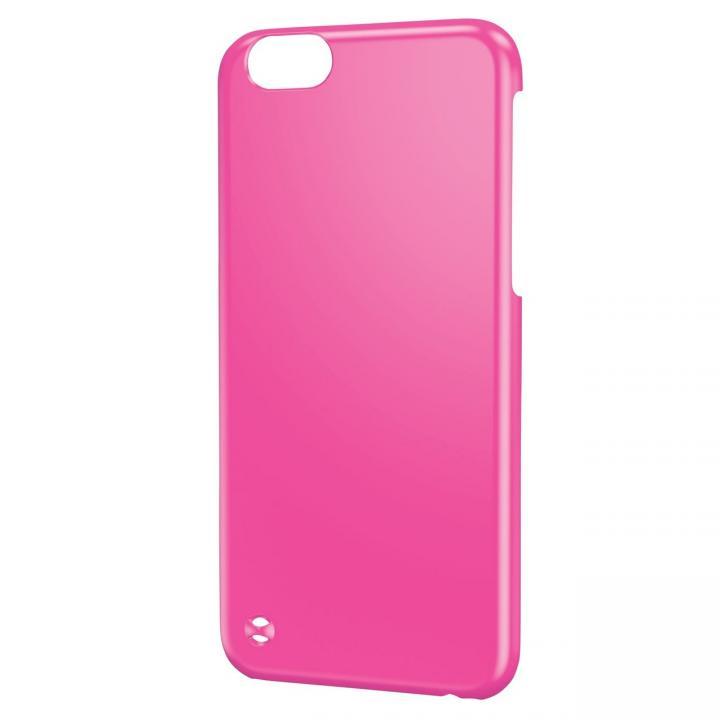 ストラップホール付き シェルカバー ピンク iPhone 6ケース