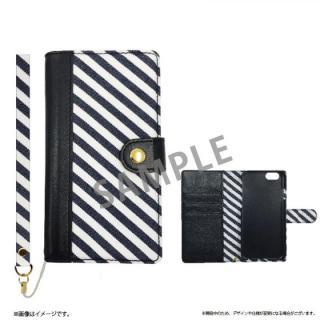 ファブリック手帳型ケース BOOK Fabric ストライプ(A) iPhone 6s/6