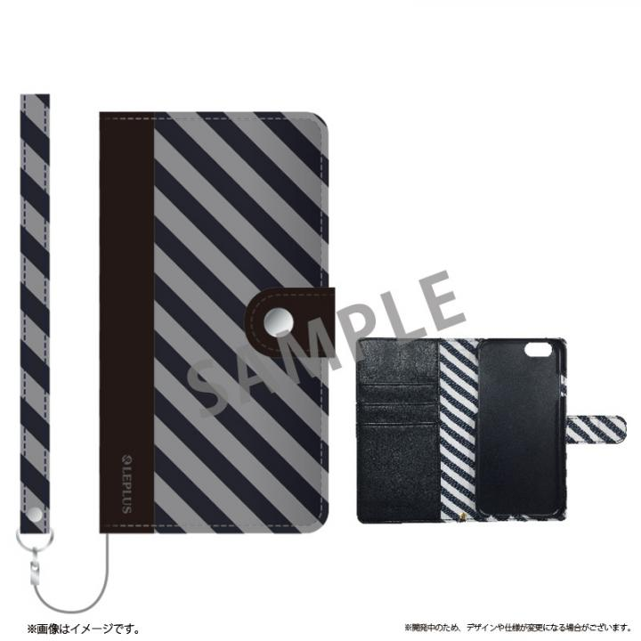 iPhone6s ケース ファブリック手帳型ケース BOOK Fabric ストライプ(B) iPhone 6s/6_0
