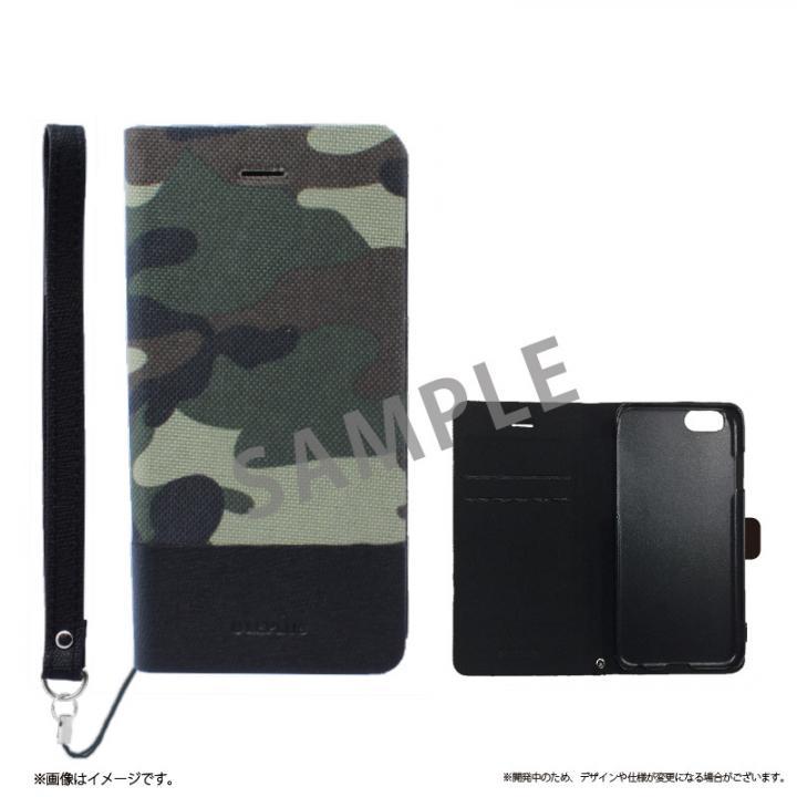 iPhone6s ケース 薄型ファブリック手帳型ケース PRIME Fabric カモフラージュ(A) iPhone 6s/6_0