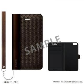 薄型ファブリック手帳型ケース PRIME Fabric ウェーブ(B) iPhone 6s/6