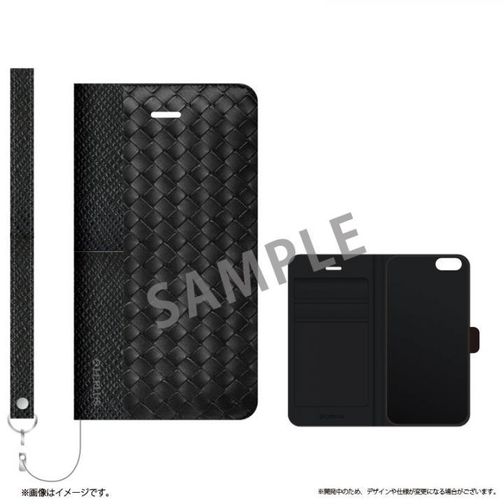 【iPhone6sケース】薄型ファブリック手帳型ケース PRIME Fabric ウェーブ(A) iPhone 6s/6_0
