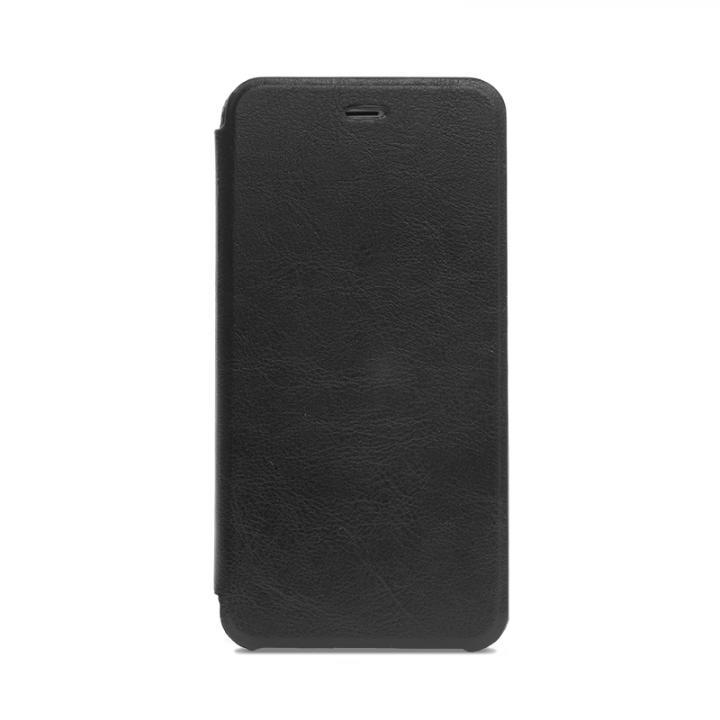 極薄手帳型レザーケース SLIM ブラック iPhone 6s/6