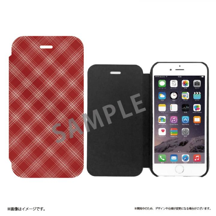iPhone6s ケース 極薄手帳型レザーケース SLIM Fabric チェック柄 iPhone 6s/6_0