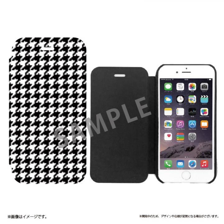 【iPhone6sケース】極薄手帳型レザーケース SLIM Fabric 千鳥柄 iPhone 6s/6_0