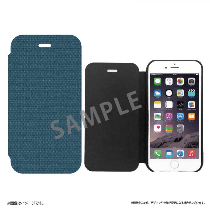 iPhone6s ケース 極薄手帳型レザーケース SLIM Fabric 帆布柄 iPhone 6s/6_0
