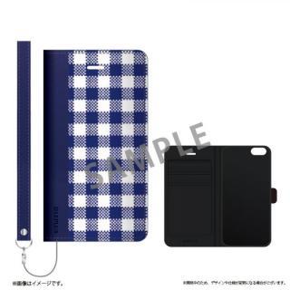 薄型ファブリック手帳型ケース PRIME Fabric ギンガムチェック(B) iPhone 6s/6
