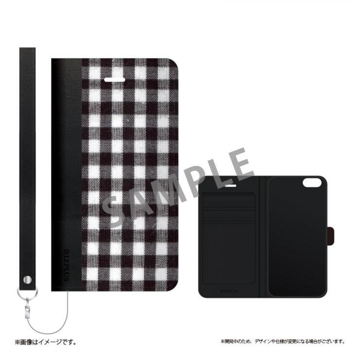 iPhone6s ケース 薄型ファブリック手帳型ケース PRIME Fabric ギンガムチェック(A) iPhone 6s/6_0
