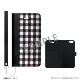 薄型ファブリック手帳型ケース PRIME Fabric ギンガムチェック(A) iPhone 6s/6