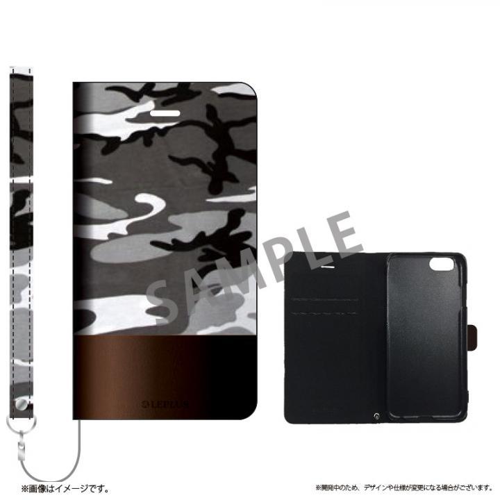 iPhone6s ケース 薄型ファブリック手帳型ケース PRIME Fabric カモフラージュ(B) iPhone 6s/6_0