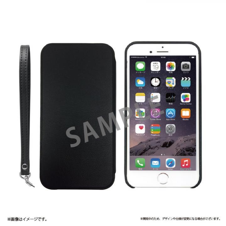 2WAY フリップ脱着型PUレザーケース ブラック iPhone 6s Plus/6 Plus