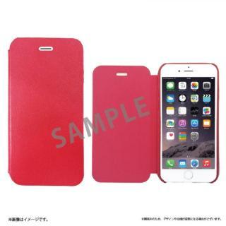 SLIM 極薄レザー手帳型ケース レッド iPhone 6s Plus/6 Plus