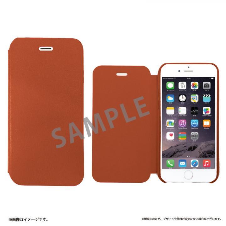 iPhone6s Plus ケース SLIM 極薄レザー手帳型ケース ブラウン iPhone 6s Plus/6 Plus_0