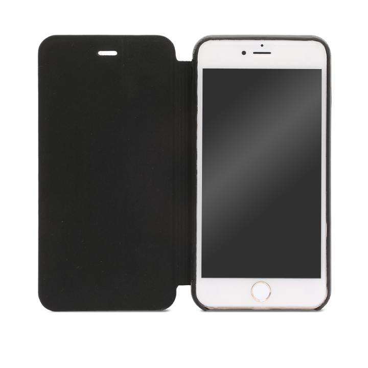 SLIM 極薄レザー手帳型ケース ブラック iPhone 6s Plus/6 Plus