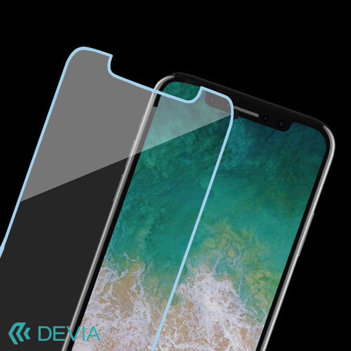 【iPhone XS/Xフィルム】硬度9Hガラスを使用 気泡が入りにくく貼るのが簡単/Tempered Glass iPhone XS/X_0
