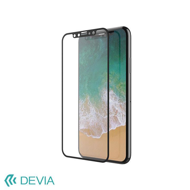 【iPhone XS Maxフィルム】硬度9Hの強化ガラス フルスクリーンで画面をしっかりガード/Van Entire View iPhone XS Max_0