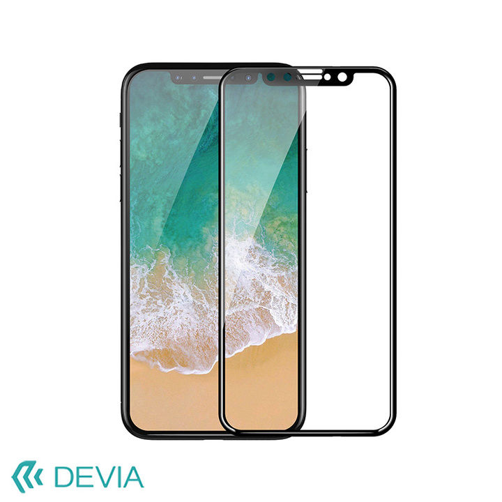 iPhone XS/X フィルム 3D強化ガラス 9H 耐衝撃 3D 貼りやすい/Entire View 3D Curved iPhone XS/X_0