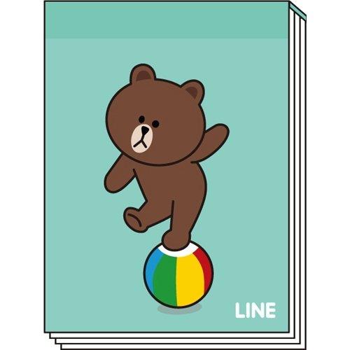LINE ミニメモC(ブラウン)_0