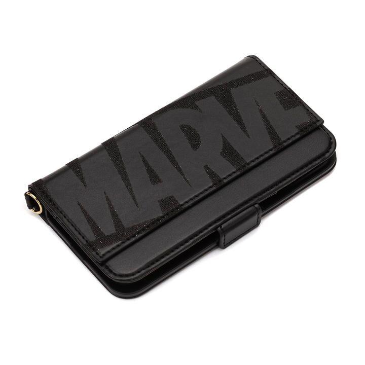 MARVEL ダブルフリップカバー ロゴ/ブラック iPhone 11 Pro_0